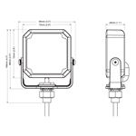 8891801 Clear Square LED Drawing