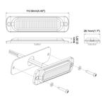 8891910 Vertical Low Pro Amber LED Strobe Drawing
