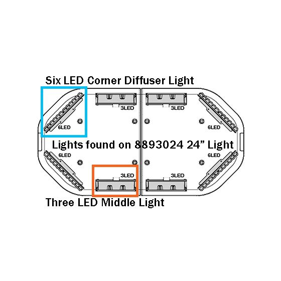Styles of lights found on 8893024 Clear