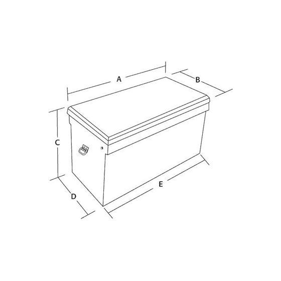 Aluminium Jumbo Chest Tool Box 24 H x 48 W x 24 -2