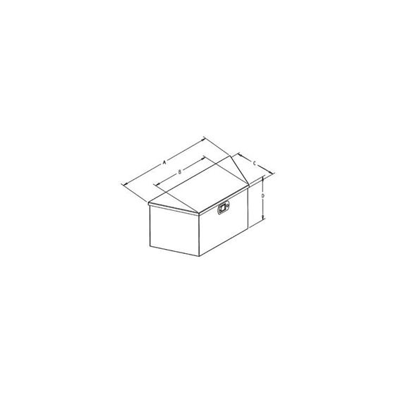 Black Steel Trailer Tounge Tool Box 12 H x 27 W -2