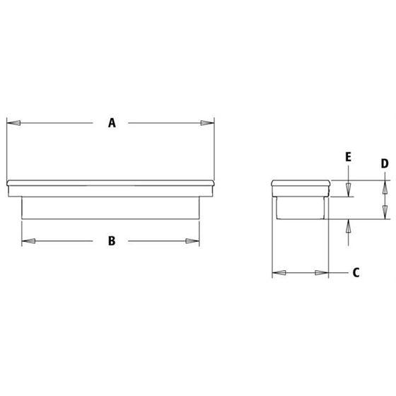 Aluminium Single Lid Cross Tool Box 13 H x 70 W -2