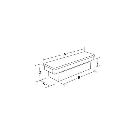 Aluminium Single Lid Cross Tool Box 13 H x 62 W -2