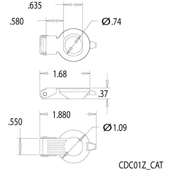 CDC01Z Zinc Die Cast Drawing