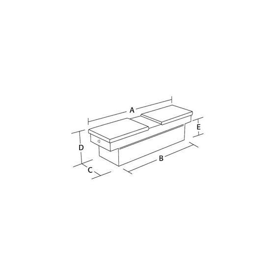 Aluminium Gull Wing Cross Tool Box 23 H x 71 W x-2