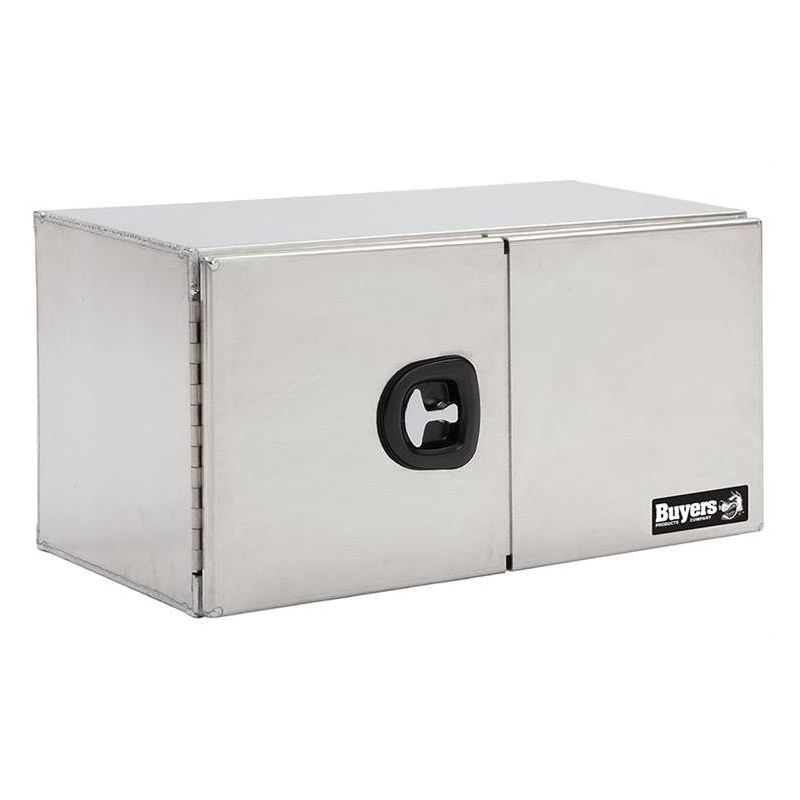 Smooth Aluminium Double Barn Door Tool Box 24 H x