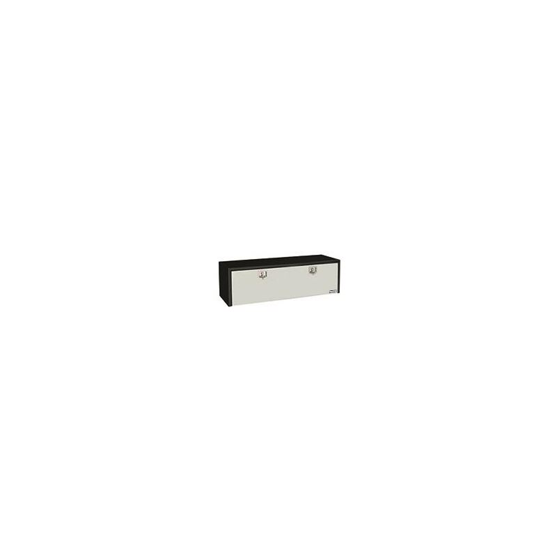 Black Steel Underbody Tool Box with Stainless Door