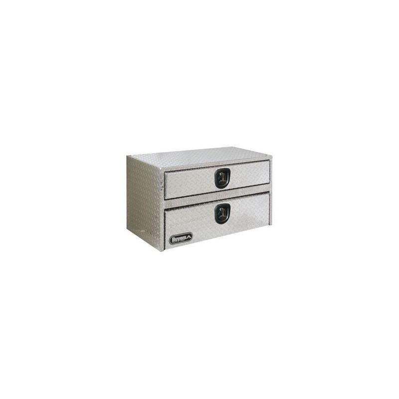 Aluminium Underbody Tool Box with Drawer 20 H x 36