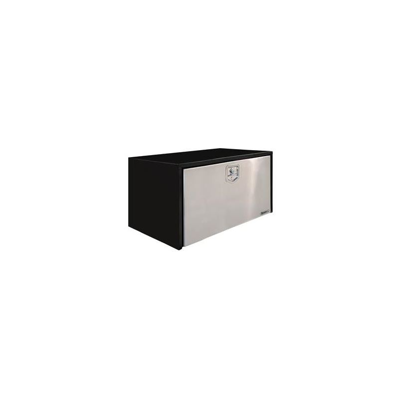 Black Steel Underbody Tool Box with Stainless Door